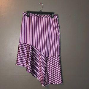 NWT Banana republic stripped asymmetrical skirt